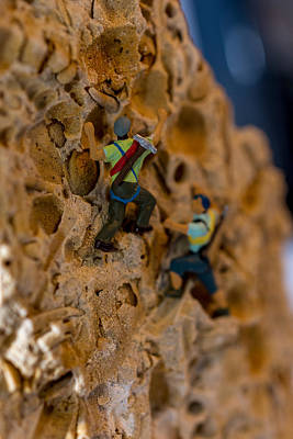 Photograph - Fossil Rock Climbing by Rainer Kersten