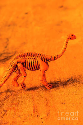 Fossilised Exhibit In Toy Dinosaurs Art Print