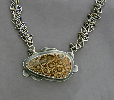 Sterling Silver Jewelry - Fossilized Palm by Mirinda Kossoff