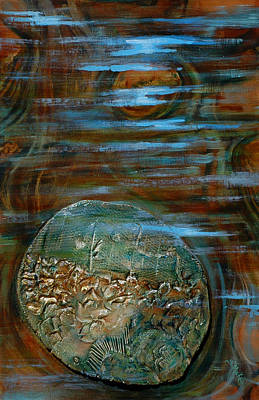 Painting - Fossils In A Stream by Suzanne McKee