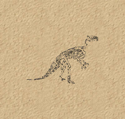Fossils Of A Dinosaur Art Print by Anton Kalinichev