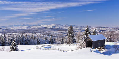 Photograph - Foster Bridge Winter Panorama by Alan L Graham