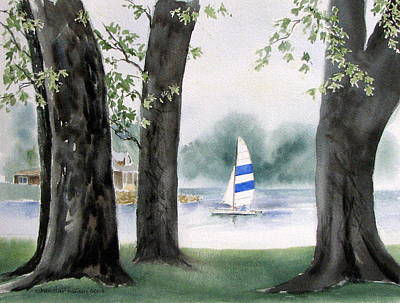 Painting - Foster Cove Watch Hill Ri by Joan Hartenstein