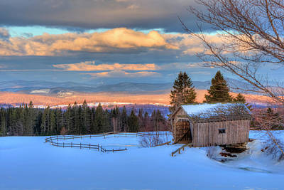Photograph - Foster Covered Bridge - Cabot, Vermont by Joann Vitali