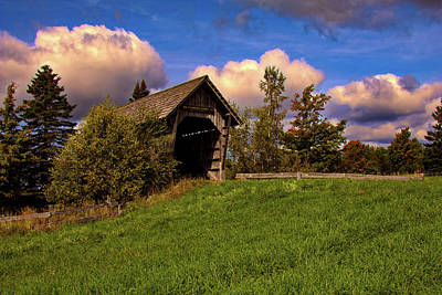Photograph - Foster Covered Bridge Vermont by Jeff Folger