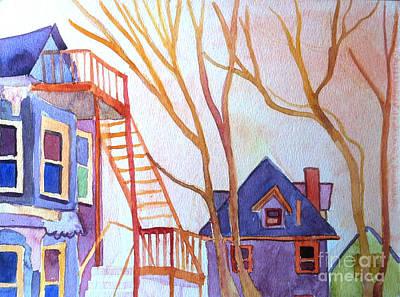 Foster Street Lowell Watercolor Art Print by Debra Bretton Robinson