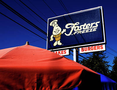 Photograph - Fosters Freeze by Mary Capriole