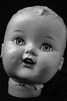 Doll Photograph - Found Dolls Head by Garry Gay