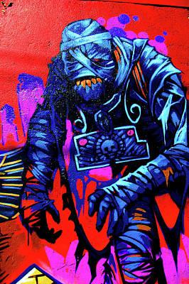 Digital Altered Digital Art - Found Graffiti 25 Mummy by Jera Sky