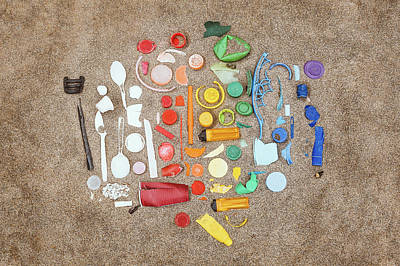 Abstract Expressionism - Found Items Rainbow by Scott Norris