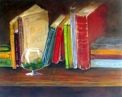 Snifter Painting - Found My Marbles by Janet  Sheen