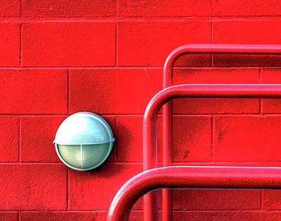 Photograph - Found Red Abstract by Dawn Currie