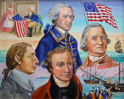 Founding Fathers Hancock Morris Henry And Adams Art Print