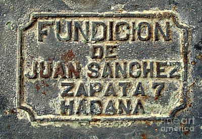 Photograph - Foundry Plaque by Ethna Gillespie