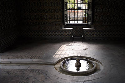 Allah Photograph - Fountain At Alcazar by Mark Wagoner
