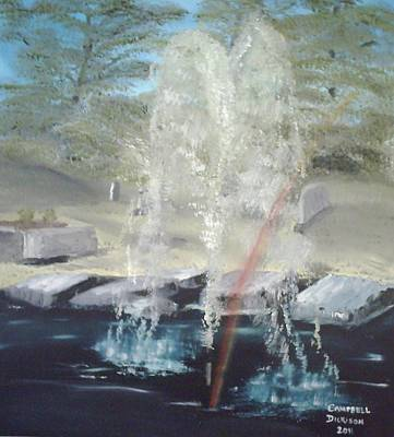 Fountain At Cataraqui Art Print by Campbell Dickison