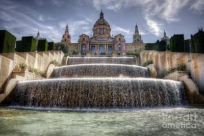 Fountain At Placa D'espanya Art Print by Svetlana Sewell
