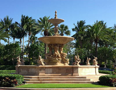 Photograph - Fountain At The Breakers by Denise Mazzocco