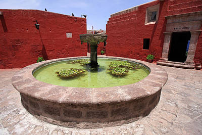 Photograph - Fountain At The Convent Of Santa Catalina by Aidan Moran