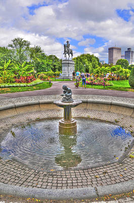 Fountain At The Public Garden In Boston Original by Randy Aveille