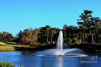 Photograph - Fountain At Tpc Sawgrass by Randy J Heath