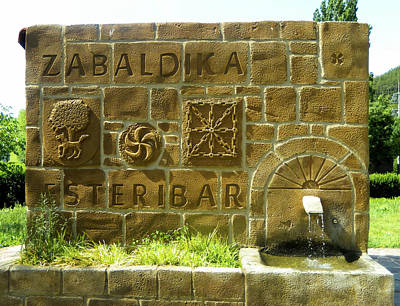 Photograph - Fountain At Zabaldika by Mike Shaw