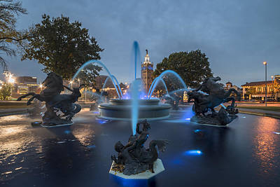 Photograph - Fountain Blue by Ryan Heffron