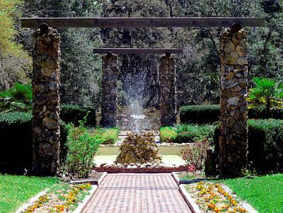 Fountain  Art Print by Bob Johnson