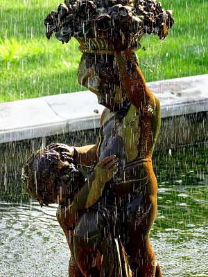 Photograph - Fountain Cherubs by Ed Weidman
