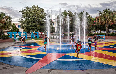 Photograph - Fountain Children by Gregory Daley  PPSA