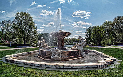 Fountain - Cleveland Museum Of Art Art Print