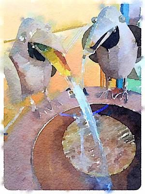 Digital Art - Fountain Fun by Shannon Grissom