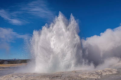Photograph - Fountain Geyser Burst by Janet Jones