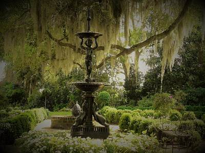 Photograph - Fountain In A Garden by Patricia Greer