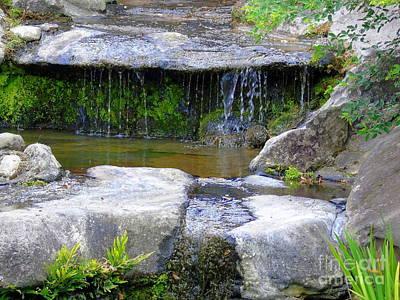 Photograph - Fountain In A Japanese Garden by Susan Lafleur