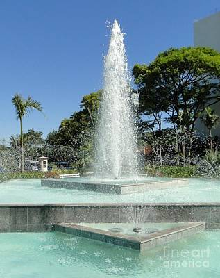 Photograph - Fountain In Brazil by Barbie Corbett-Newmin