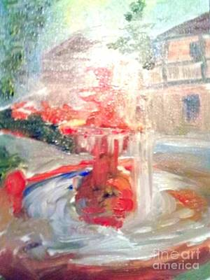 Of St. Augustine Painting - Fountain In St Augustine Garden by Patricia Ducher