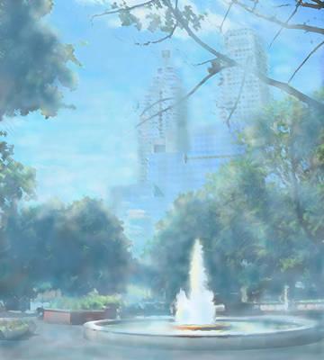 Photograph - Fountain In The City by Ian  MacDonald