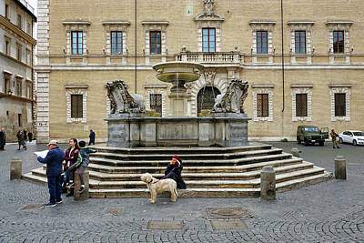 Photograph - Fountain In The Trastevere Neighborhood Of Rome Italy by Richard Rosenshein