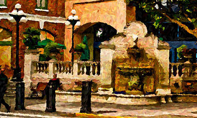 Photograph - Fountain In Victoria by Dale Stillman