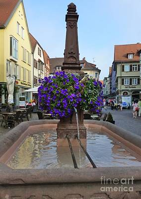 Photograph - Fountain In Wertheim, Germany by Barbie Corbett-Newmin