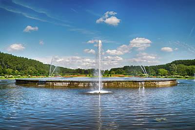 Photograph - Fountain Landscape by Wim Lanclus