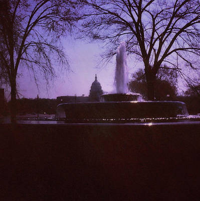 Photograph - Fountain Near Capitol Hill by JAMART Photography