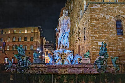 Photograph - Fountain Of Neptune by Adam Rainoff
