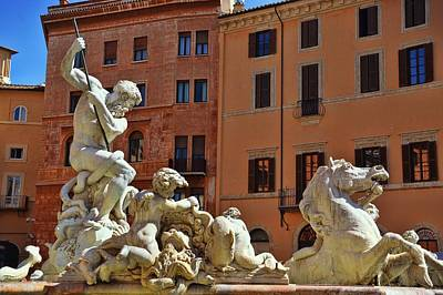 Photograph - Fountain Of Neptune by JAMART Photography