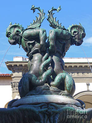 Photograph - Fountain Of The Sea Monsters In Florence Italy by Gregory Dyer
