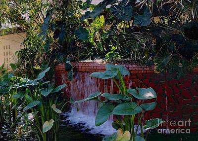 Photograph - Fountain Of The Southern Garden by Jenny Revitz Soper