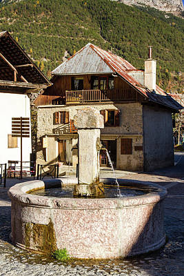 Stone Trough Photograph - Fountain Of Vallouise - French Alps by Paul MAURICE