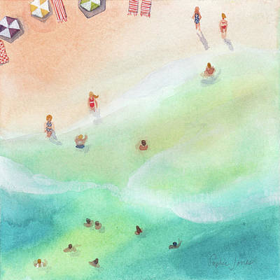 Beach Umbrella Wall Art - Painting - Fountain Of Youth by Stephie Jones