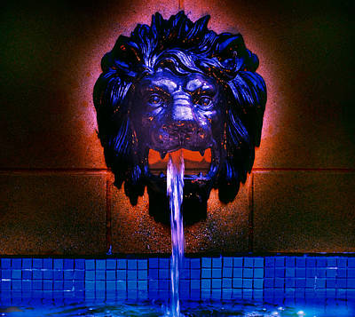 Cool Lion Digital Art - Fountain by Patricia Motley
